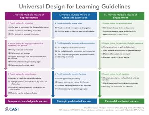 photo from CAST of 9 UDL Guidelines